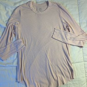American eagle light pink long sleeve